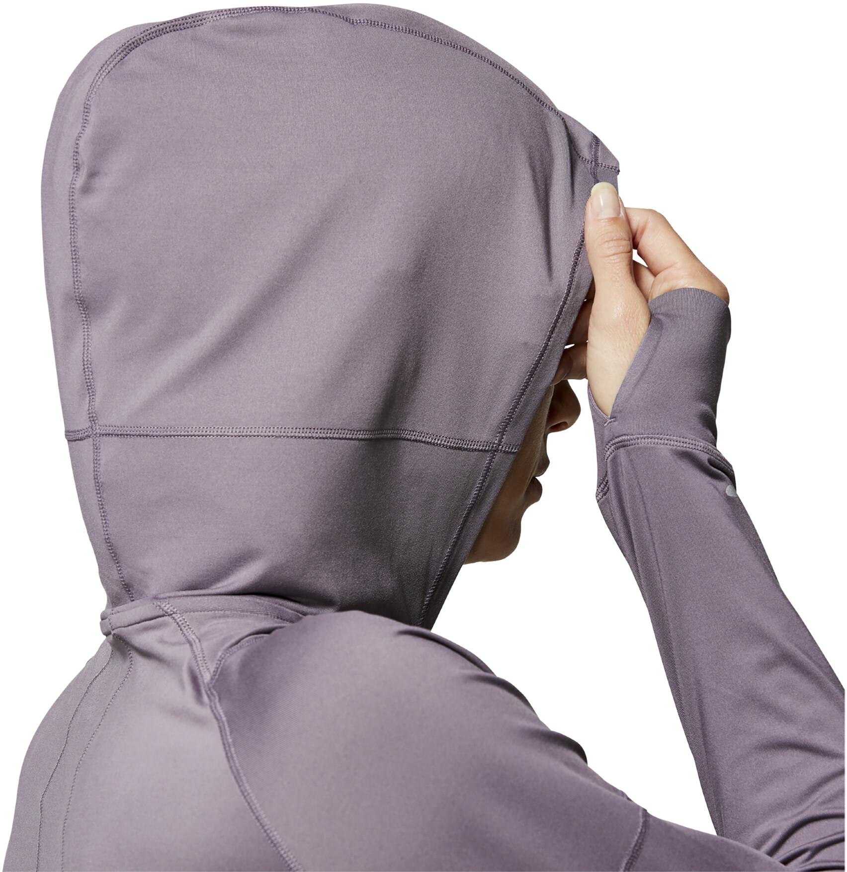 asics Thermopolis LS Half Zip Hoodie Women lavender grey